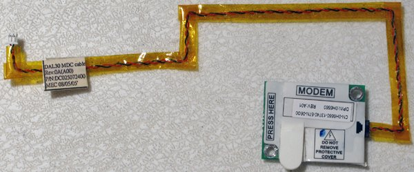 DELL INSPIRON 6000 9300 2200 PCI 56K MODEM CARD w/ CABLE H6660 / 0H6660