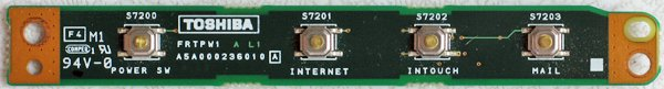 TOSHIBA 2400 2415 1400 POWER BUTTON SWITCH BOARD FRTPW1