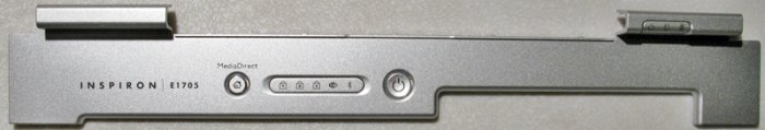 DELL INSPIRON E1705 POWER BUTTON LCD HINGE COVER WG516