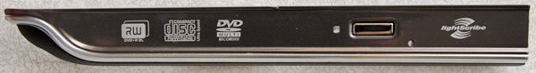 HP PAVILION DV4 1220US DVDRW OPTICAL DRIVE FRONT PLATE / COVER