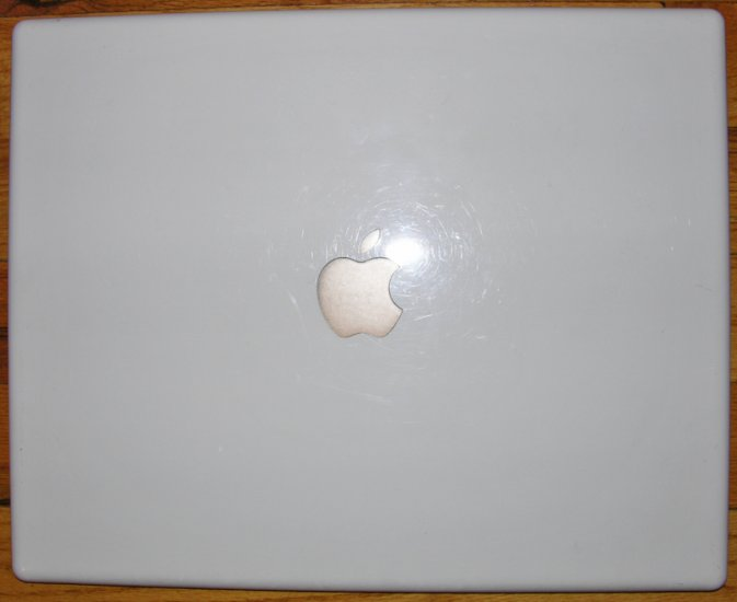 "GENUINE APPLE MAC iBOOK G4 1.42GHz 14"" LCD SCREEN COVER LID"