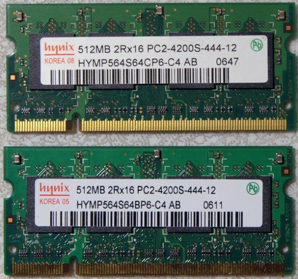 HYNIX SONY VAIO N160G 1GB RAM (2x512MB) 2Rx16 PC2-4200S