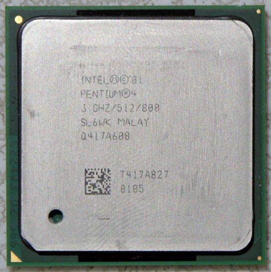 HP PAVILION ZD7000 INTEL PENTIUM 4 3.0GHz CPU PROCESSOR SL6WK