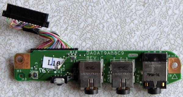 HP PAVILION DV9000 SERIES AUDIO SOUND BOARD DA0AT9AB8C9 REV: C w/ CABLE