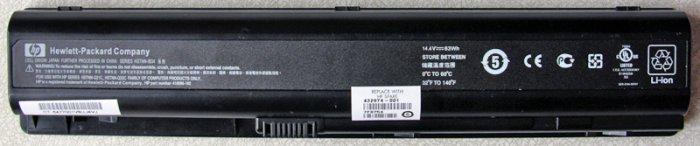 GENUINE OEM HP PAVILION DV9000 SERIES BATTERY HSTNN-IB34 432974-001