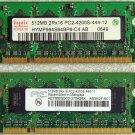 TOSHIBA SATELLITE A135 1GB RAM PC2-4200S HYMP564S64BP6-C4 AB