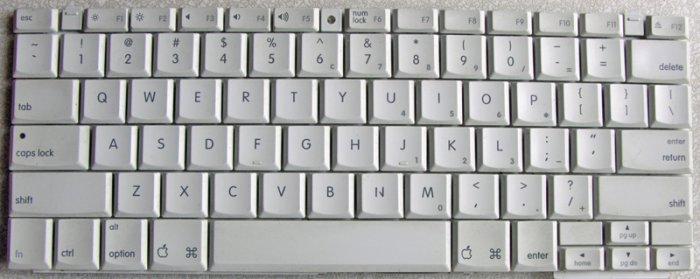 """GENUINE OEM APPLE MAC iBOOK G3 G4 12"""" KEYBOARD 922-6901"""