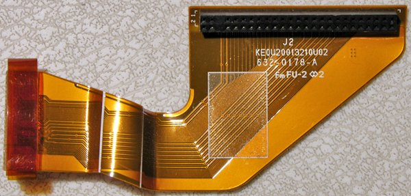 APPLE MAC POWERBOOK G4 ALUMINUM HD HARD DRIVE FLEX CABLE 632-0178-A