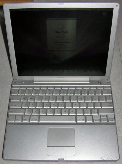 "APPLE MAC POWERBOOK G4 12"" 1GHz 512MB 40GB DVDRW (SUPER DRIVE) BLUETOOTH OS 10.5"