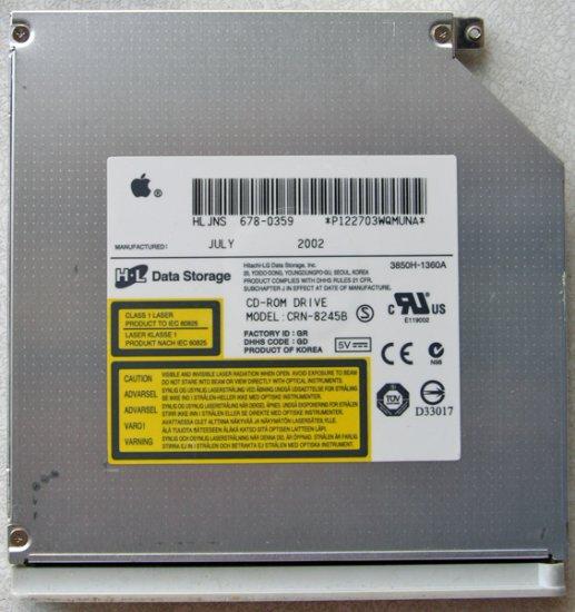 """GENUINE APPLE MAC iBOOK G3 12"""" 14"""" CD ROM DRIVE CRN-8245B 678-0389A"""