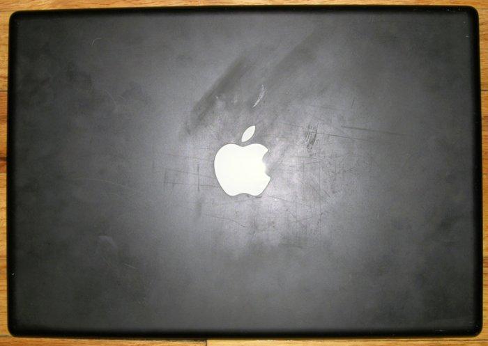 """GENUINE OEM APPLE BLACK MACBOOK 13.3""""  LCD SCREEN COVER / LID"""
