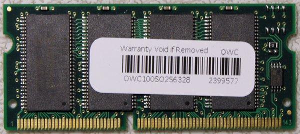 GENUINE APPLE MAC POWERBOOK G3 G4 iBOOK G3 256MB RAM PC100 144PIN