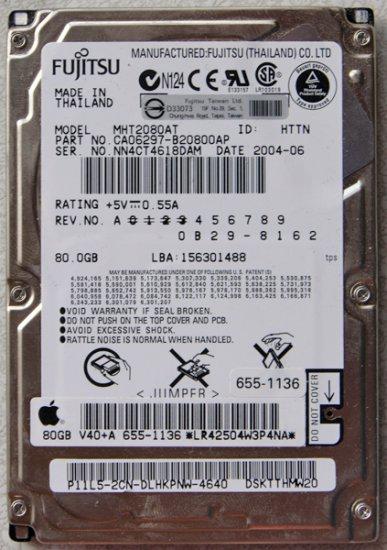 GENUINE MAC APPLE iBOOK POWERBOOK PISMO 80GB HARD DRIVE