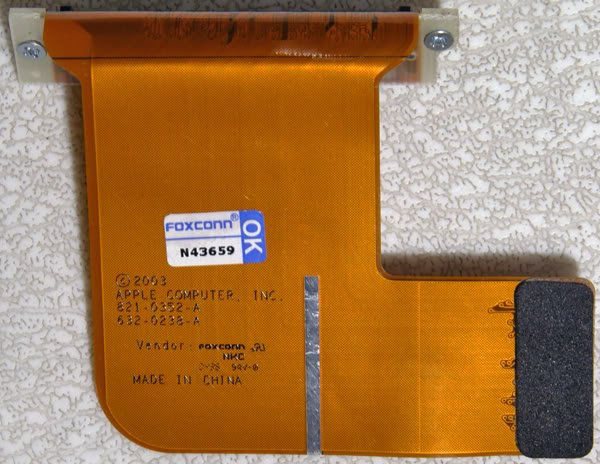 """POWERBOOK G4 15"""" ALUMINUM AIRPORT CONNECTOR 821-0352-A"""