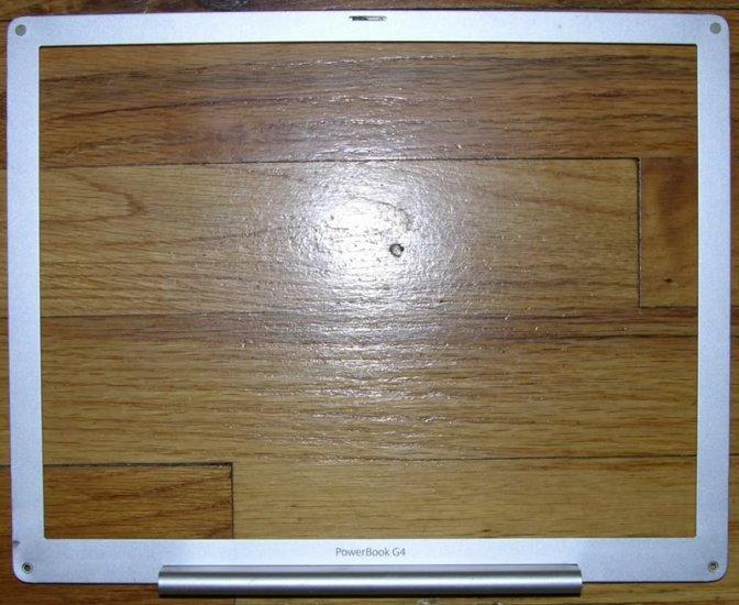 """MAC POWERBOOK G4 12"""" LCD BEZEL 1.33GHz 1.5GHz ALUMINUM"""
