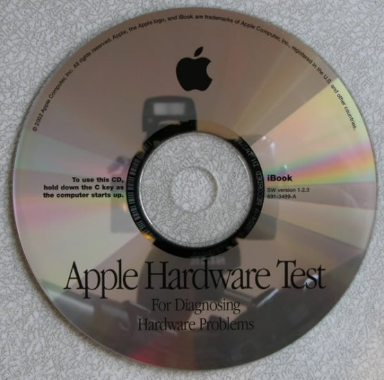 APPLE IBOOK G3 HARDWARE TEST VERSION 1.2.3 691-3489-A