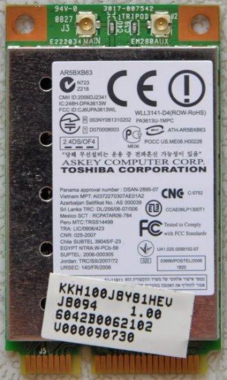 TOSHIBA L355 L305D PCI WIRELESS WIFI CARD V000090730