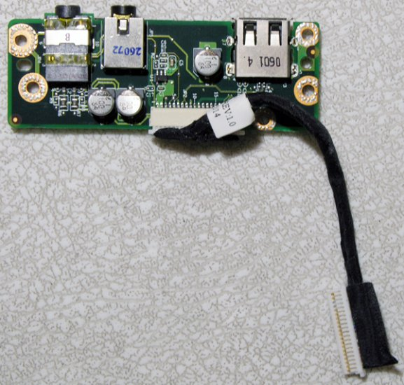 HP PAVILION DV5000 AUDIO SOUND BOARD LS-2776 407803-001 w/ CABLE