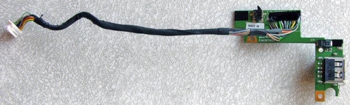 IBM THINKPAD LENOVO T60 T60P DUEL USB PORT BOARD w/ CABLE 9T5624