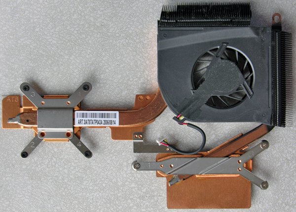 HP PAVILION DV6000 DV6500 SERIES AMD CPU HEATSINK & COOLING FAN 431449 - 001