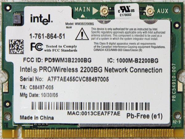 SONY VAIO VGN-FJ370 FJ170 FS660 FS630 PCI WIFI CARD 1-761-864-51