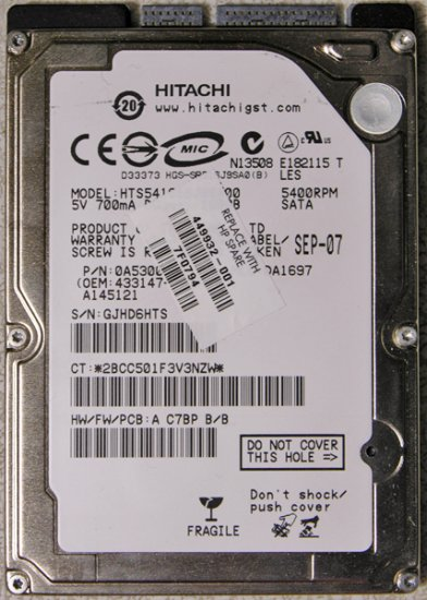 HP DV2000 DV6000 DV9000 160GB HD HARD DRIVE 449932-001