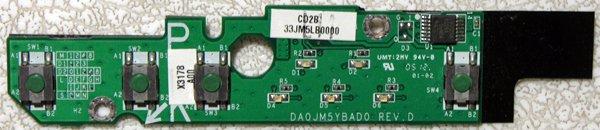 OEM DELL LATITUDE D610 M20 POWER BUTTON BOARD DA0JM5YBAD0 X3178 / 0X3178