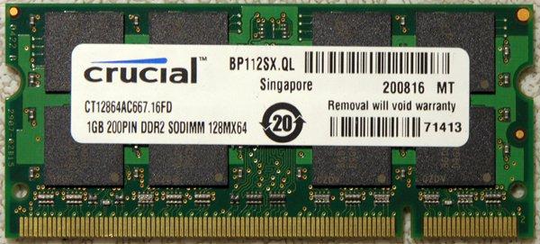 HP PAVILION DV2000 DV6000 DV9000 1GB LAPTOP RAM 434741-001