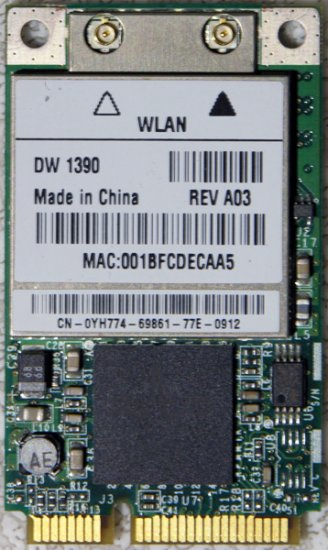 DELL E1705 9400 1520 1521 1420 MINI PCI WIFI WIRELESS YH774 / 0YH774