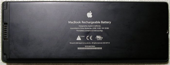 "GENUINE OEM APPLE BLACK MACBOOK 13.3"" BATTERY A1181 A1185"