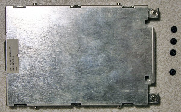 GATEWAY P-7801U HARD DRIVE CADDY 60.4V602.001 w/ SCREWS