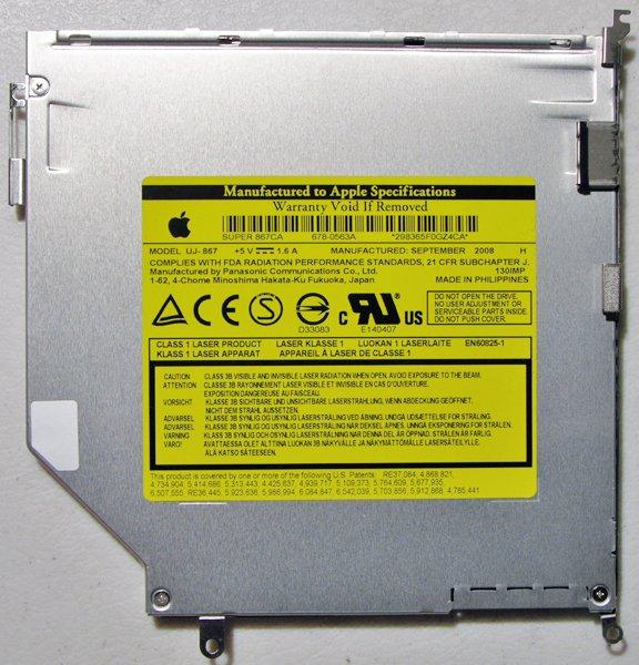 """MACBOOK PRO 13"""" 15"""" 17"""" DVDRW SD DRIVE UJ-867 678-0563A"""