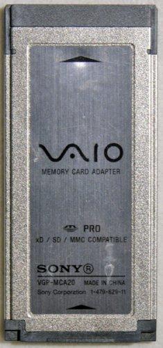 SONY VAIO XD SD MMC MEMORY CARD READY 1-479-629-11 VGP-MCA20