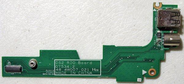 DELL INSPIRON 1525 1526 S VIDEO DUEL USB SIM CARD RIO BOARD 48.4W007.021