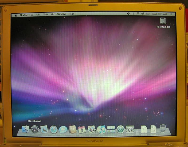 "GENUINE OEM MAC POWERBOOK G4 12"" ALUMINUM LCD SCREEN ASSEMBLY A1104"