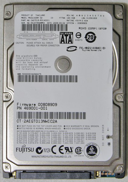 HP PAVILION DV2000 DV6000 DV9000 DV4 160GB HD HARD DRIVE 454925