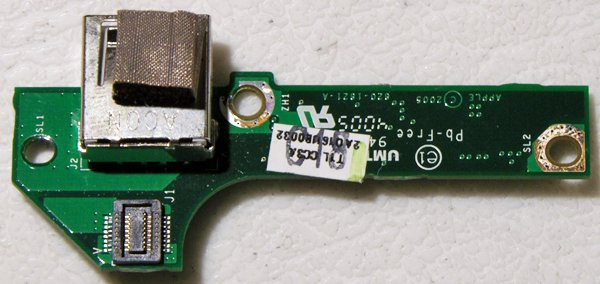 "POWERBOOK G4 15"" 1.67GHz ALUMINUM USB BOARD 820-1821-A"