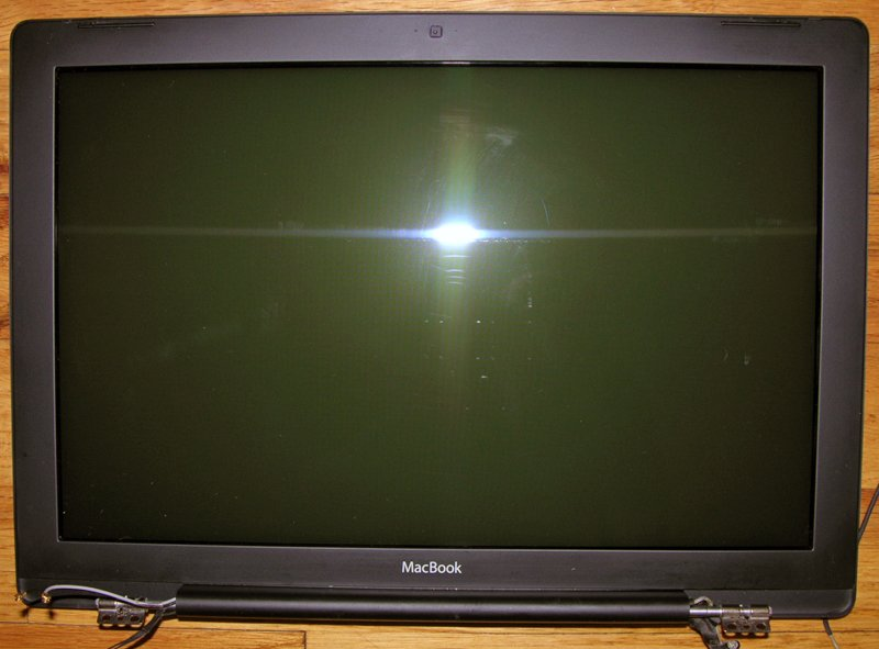 "BLACK MACBOOK 13.3"" WXVGA GLOSSY LCD SCREEN ASSEMBLY"