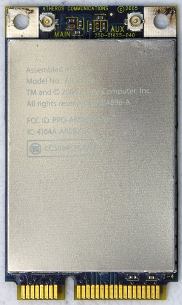 "APPLE OEM MACBOOK PRO 13"" 15"" 17"" PCI WIFI WIRELESS CARD 020-4896-A 603-8214-A"