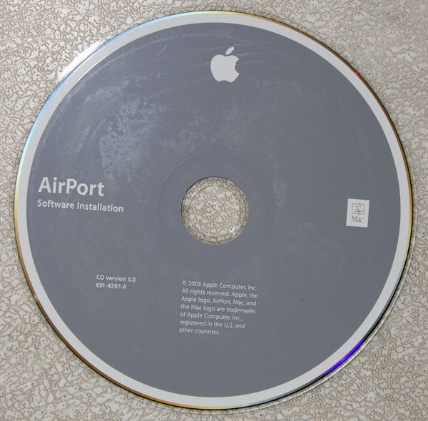 APPLE MAC AIRPORT INSTALLATION CD VERSION 3 691-4297-A