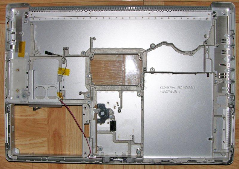 "OEM APPLE MAC POWERBOOK G4 15"" 1.5GHz A1095 A1046 BOTTOM BASE CASE 613-4679-A"