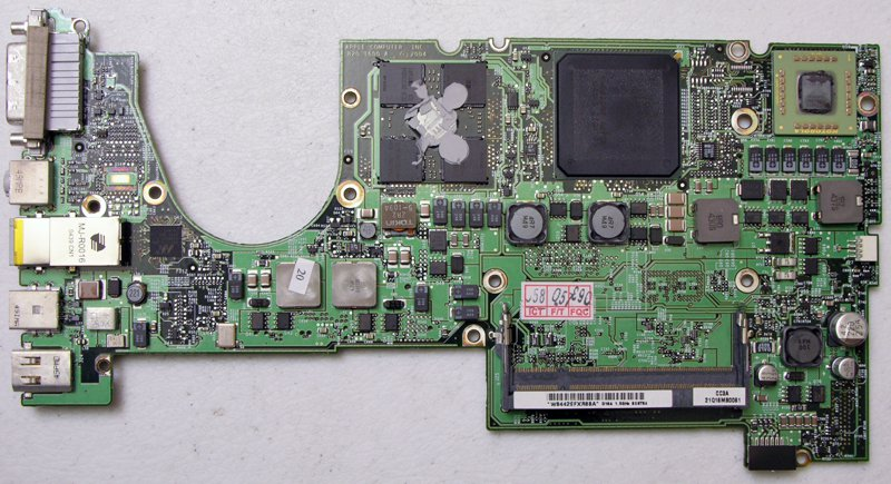 """APPLE POWERBOOK G4 15"""" 1.5GHz MOTHERBOARD LOGICBOARD 820-1600-A *PARTS*"""