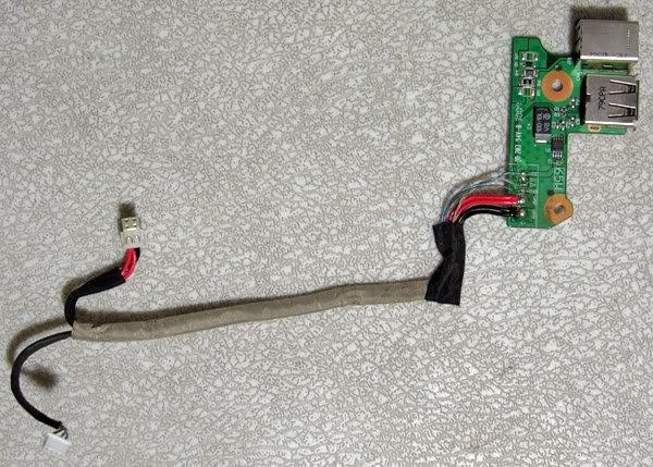 HP DV6000 USB DC IN JACK BOARD w/ CABLE DDAT8APB2003807