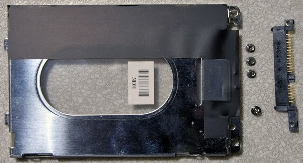 HP DV6000 DV9000 HARD DRIVE CADDY w SCREWS & IDE 434106