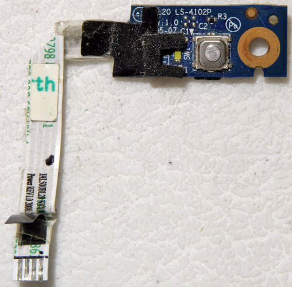 OEM HP DV4 1220US POWER BUTTON BOARD LS-4102P TESTED