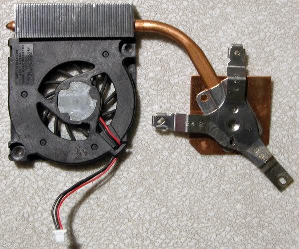 TOSHIBA A50 A55 CPU HEATSINK COOLING FAN MCF-TS5611M05