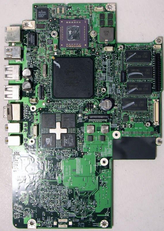 "APPLE MAC POWERBOOK G4 12"" 1.0GHz LOGICBOARD 820-1527-B"
