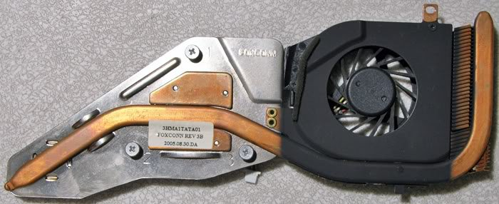 GATEWAY MX6625 MX6000 CPU HEATSINK & FAN 3HMA1TATA01