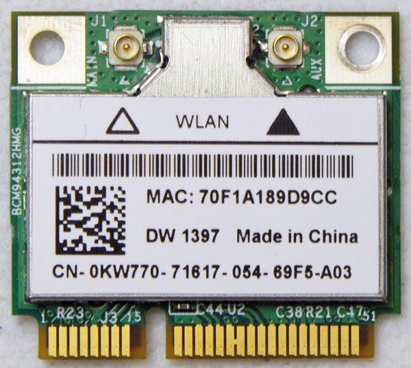 DELL INSPIRON 1545 E6500 E6505 MINI WIRLESS B/G WIFI CARD DW1397 KW770 0KW770 COOLCOOL88