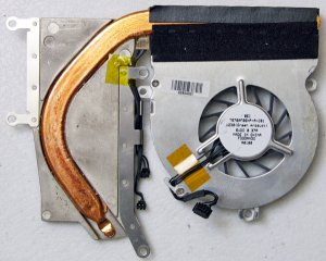 """MAC APPLE MACBOOK 13.3"""" CORE 2 DUO CPU HEATSINK & FAN 607-0142 A1181 T6709F05HP"""